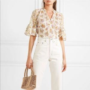 Alice + Olivia Silk Blend Floral Blouse NWT